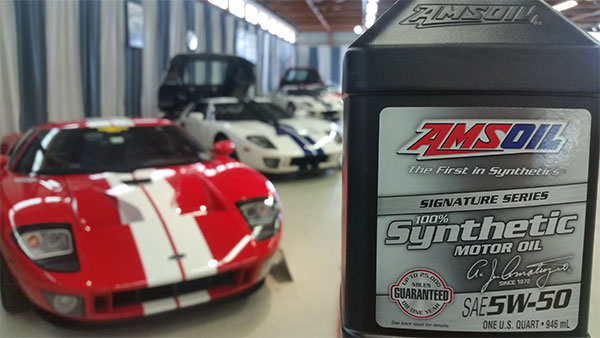 Ford GT and AMSOIL. Straight Weight Oil
