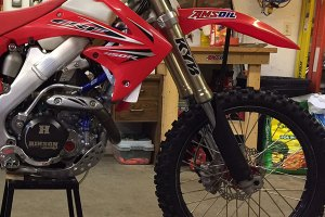 Dirt bike front suspension.