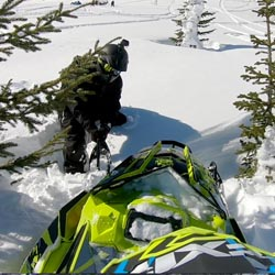 How to free your snowmobile when backcountry snowmobiling.