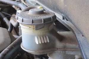 How to check brake fluid.