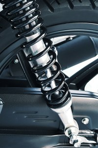 Test used motorcycle suspension before buying.