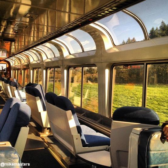 Photo Observation Car on Coast Starlight  Amtrak