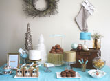 Merry Monday: Turquoise and Metallic Table