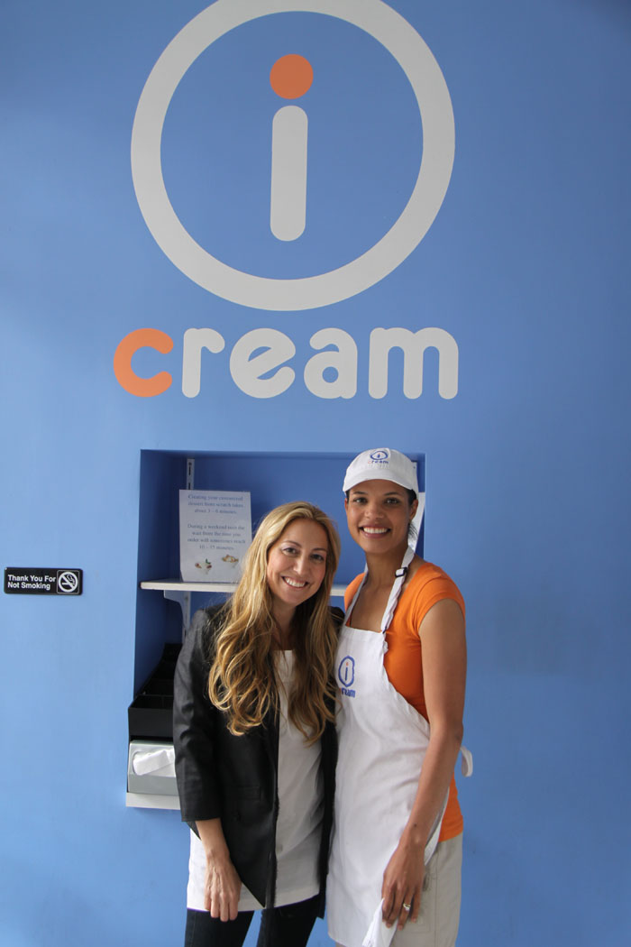 Amy Atlas and Icream founder Cara Shaw
