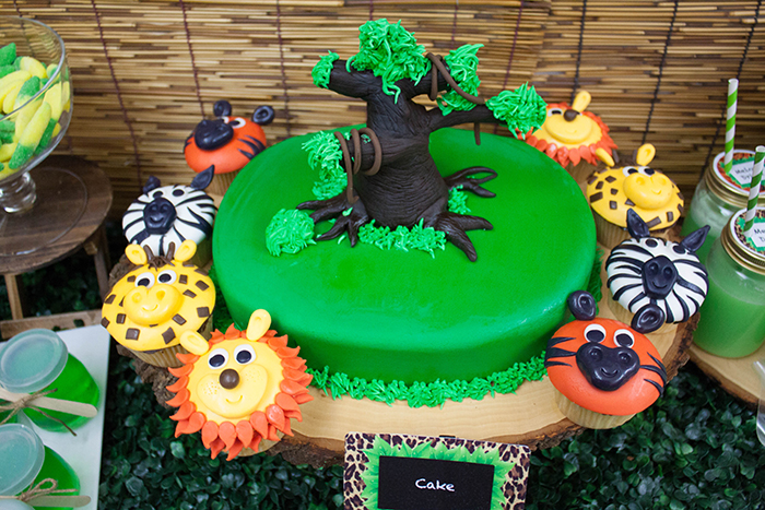 Jungle Themed Dessert Table Fantastic Cake