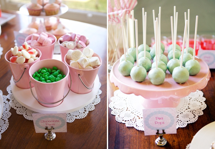 Princess Dessert Table with Amazing Bed Cake