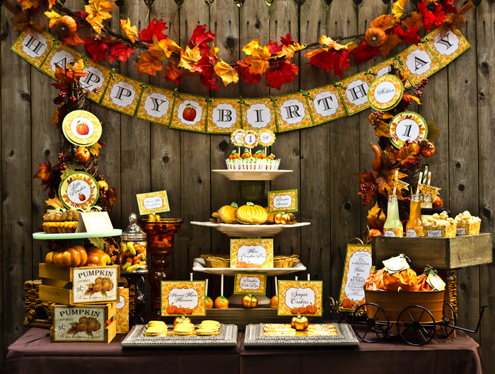 Fall Inspired Little Pumpkin Dessert Table First Birthday Party