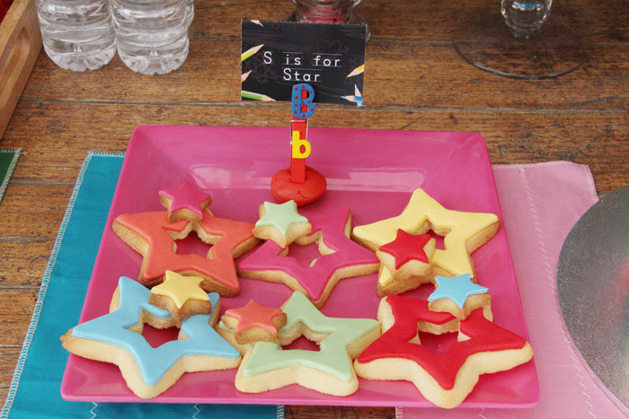 Back 2 School Dessert table Star Cookies