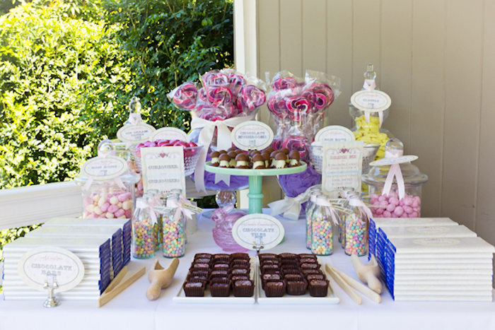 Alice in Wonderland Inspired Dessert Table Candy Table