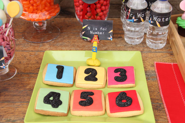 Back 2 School Dessert Feature Number cookies