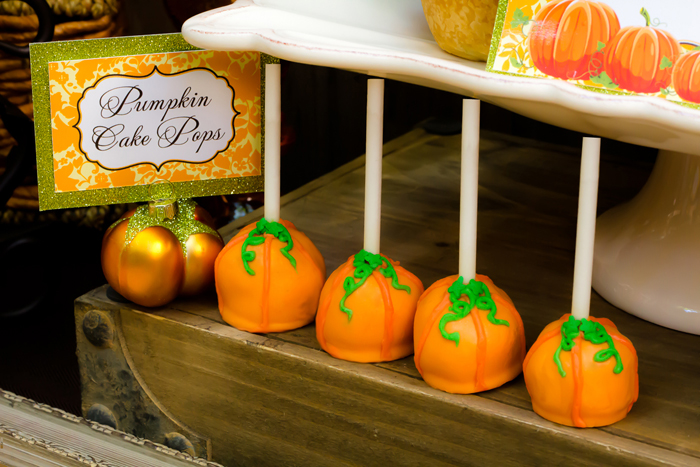 Fall Inspired Little Pumpkin Dessert Table First Birthday Pumpkin Cake Pops