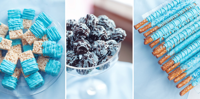 Pink And Blue Baby Shower Guest Dessert Feature Amy Atlas Events