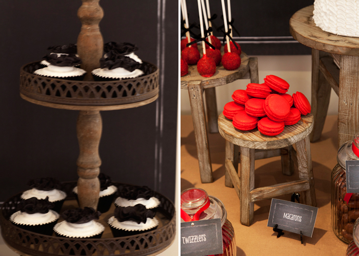 Vintage Firetruck Inspired Dessert Table Boys Party Red Macarons