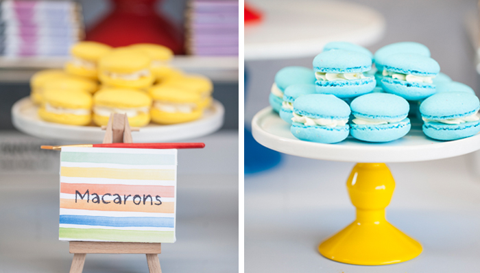Pantone Inspired Art Party for Kids colorful macarons