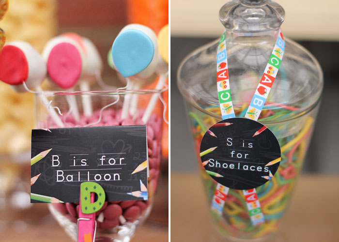 Back 2 School Dessert table Balloon Cookie Pops