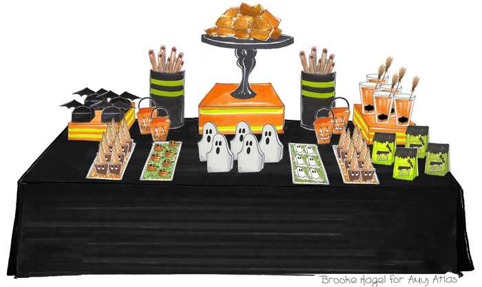Amy Atlas Halloween Table