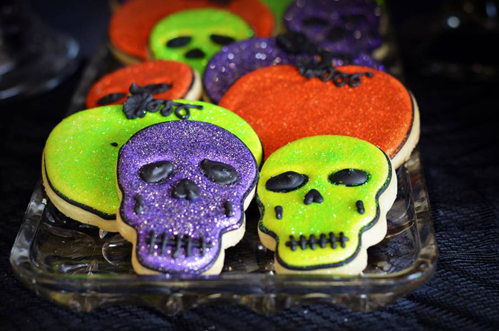 Halloween Party Ideas Skeleton Sugar Cookies