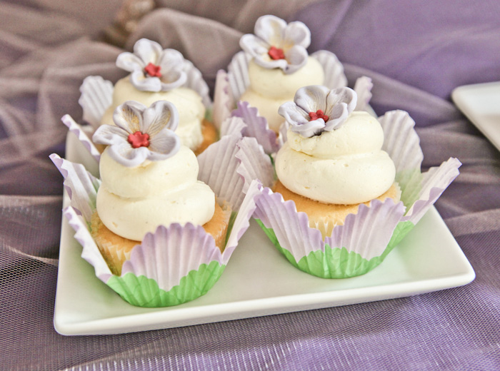 Purple Princess Party cupcakes