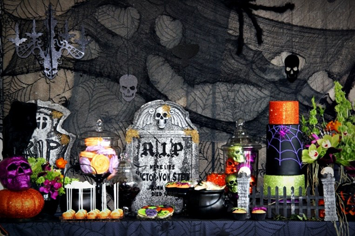 Halloween Party Ideas Dessert Table