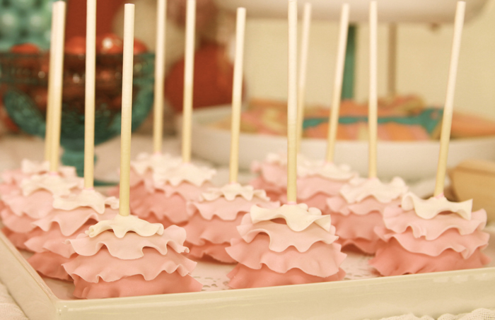 Pink Ombre Ruffled Cake Pops