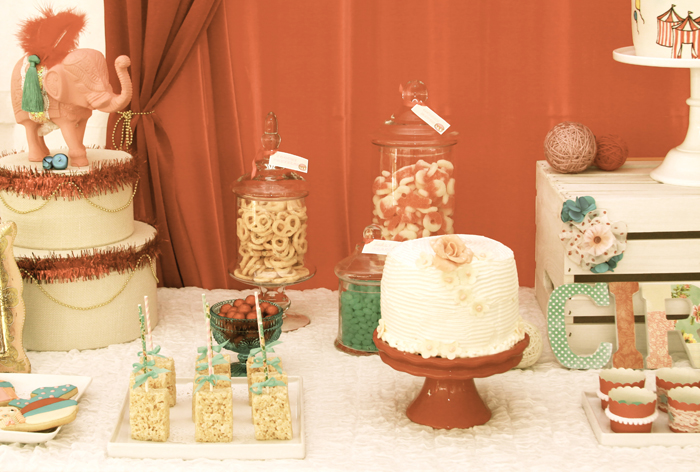 Circus Inspired Dessert Table