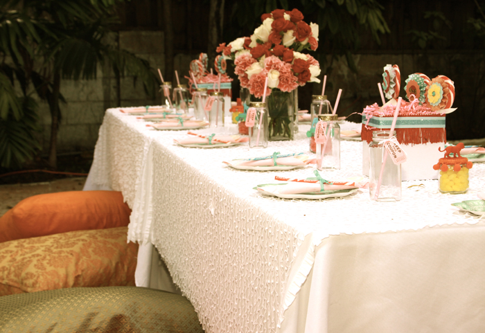 Table Set Up for Circus Inspired Party