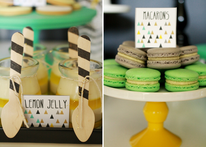 Golf inspired party ideas Macarons