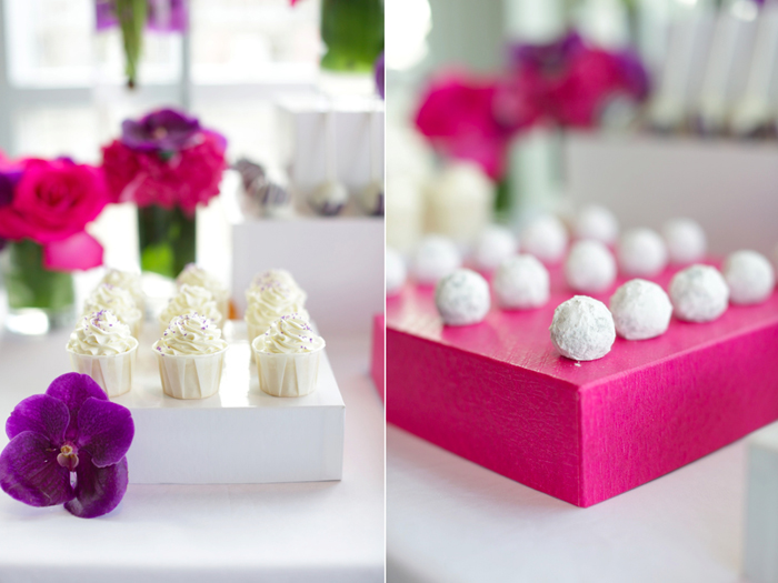Beautiful Purple Dessert Table