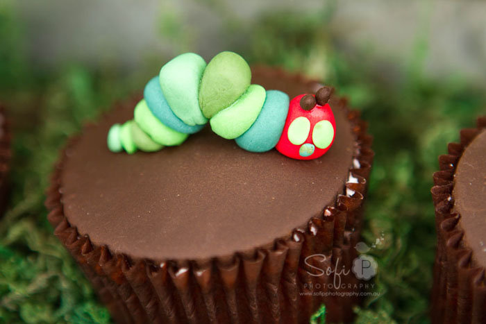 Very Hungry Caterpillar Dessert Table Cupcakes