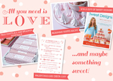 A Package of Valentine's Day Goodies {Meringue Kisses Recipe, Win a Copy Sweet Designs, Valentine's Day Check-List and Free Printable}