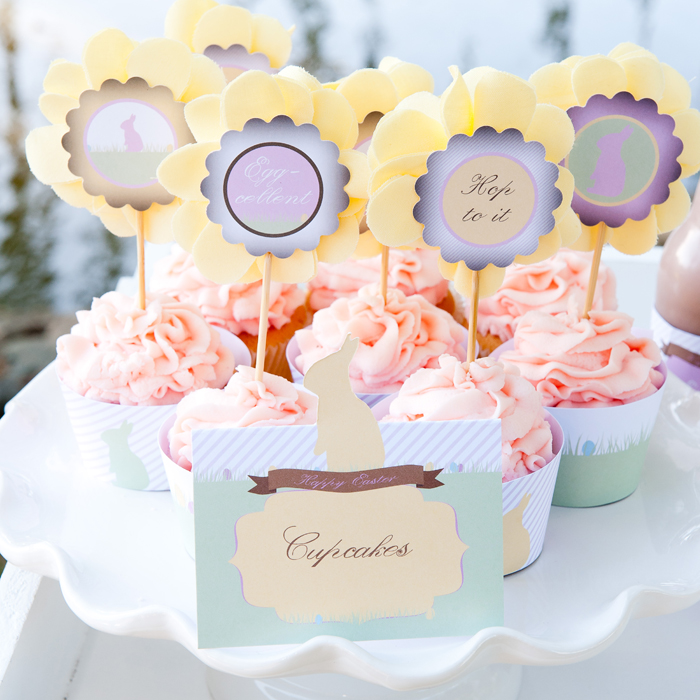 Pretty Pastel Cupcakes for Easter