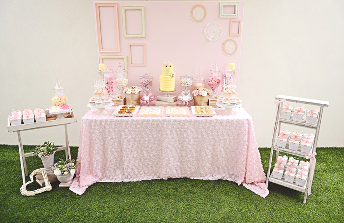 Romantic Pink & Yellow Engagement Party