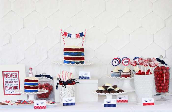 Baseball Party Dessert Table