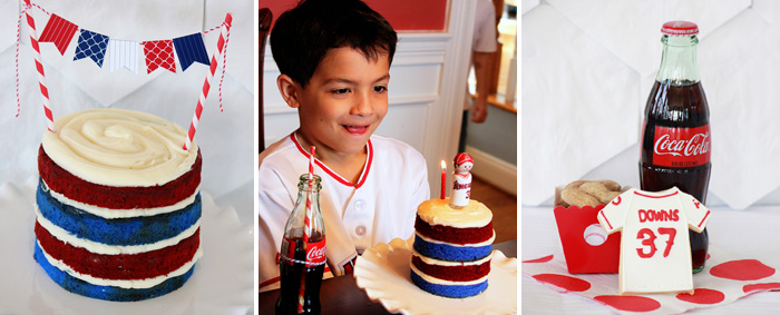 Baseball Party Team Colors Cake