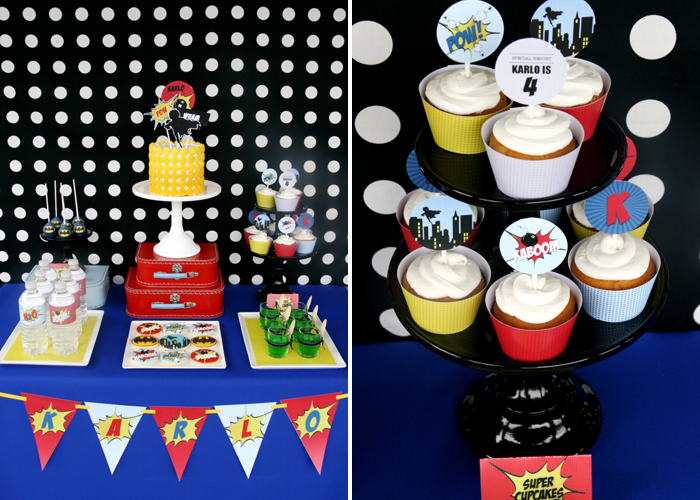 Superhero Birthday Party for Boys | Cake