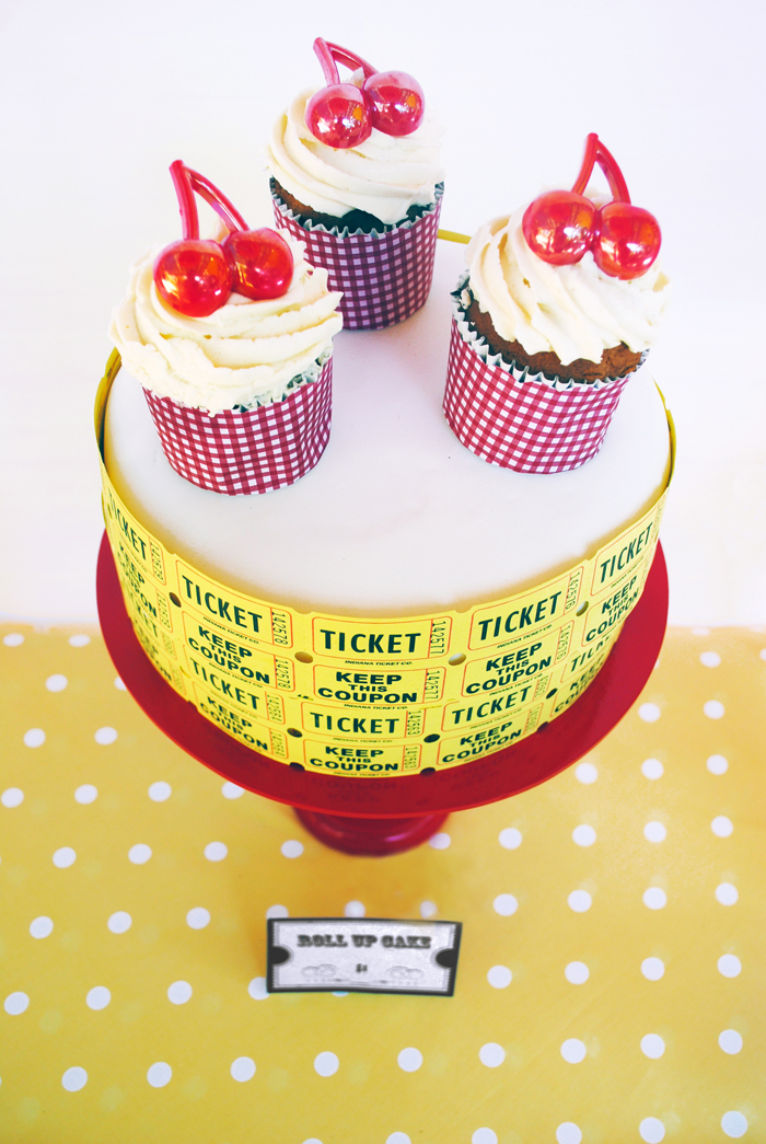 Birthday Party for Girls | Ticket Cake