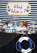Anchor's Aweigh Guest Dessert Table