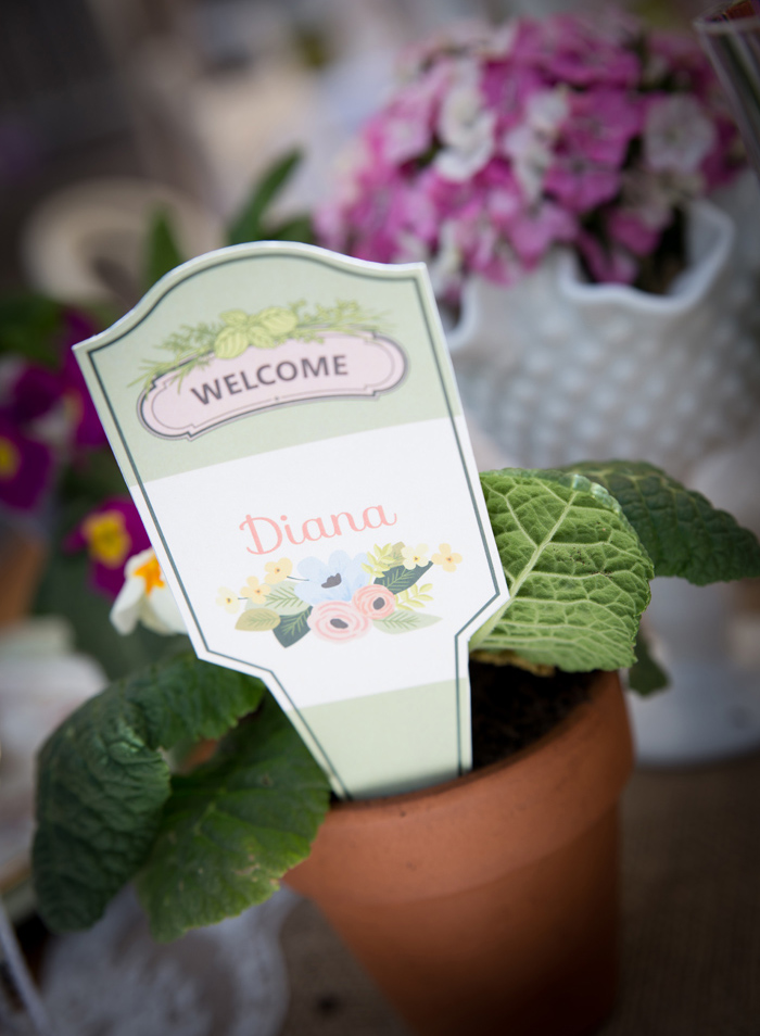 Beautiful Baby Shower | Name Cards