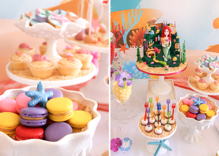 Mermaid-Party-Starfish-Macarons