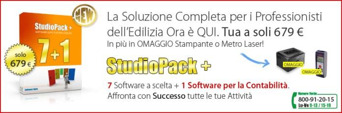 Software Suite per l'Edilizia: StudioPack+ a soli 679 euro!