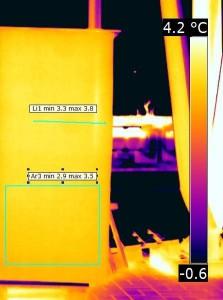Distribuzione di temperatura superficiale esterna del manufatto – IR 1704