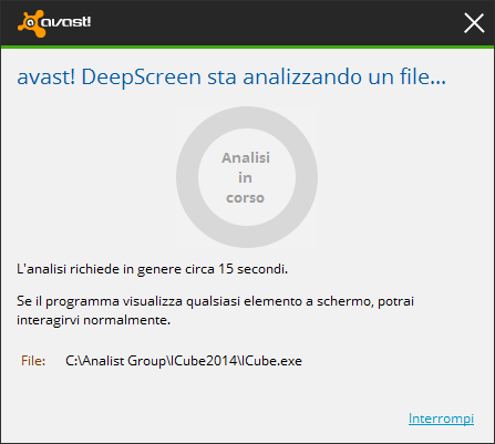 Avast Deep Screen e iCube