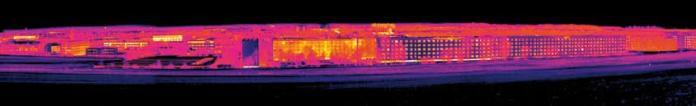 Immagine realizzata con funzione Panorama con una risoluzione di 640x480 pixel e una sensibilità termica < 45 mK.