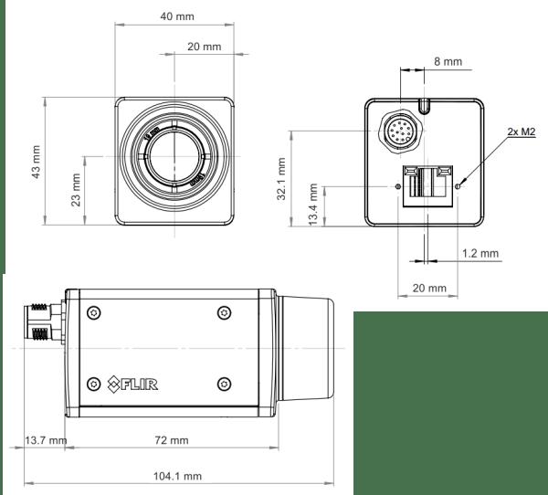 Dimensioni termocamere FLIR serie A: ideali da montare su DRONE