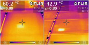 Ispezioni termografiche pannelli fotovoltaici con FLIR C2