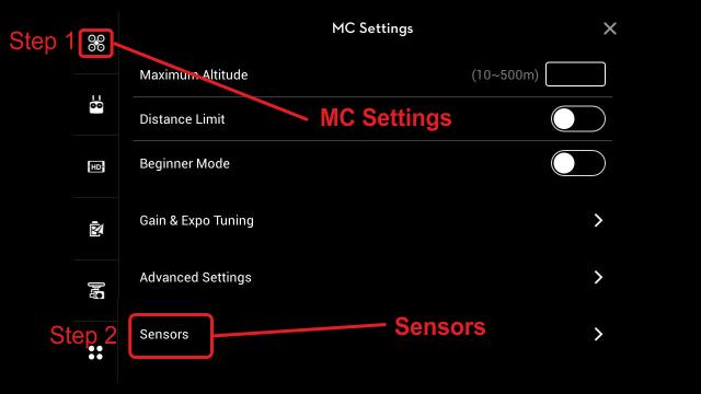 dji-pilot-settings-sensors