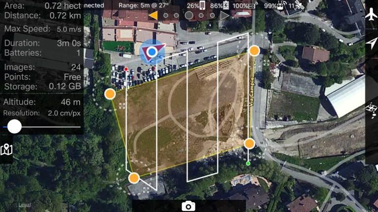 APP MAP Pilot iOS per DJI Phantom