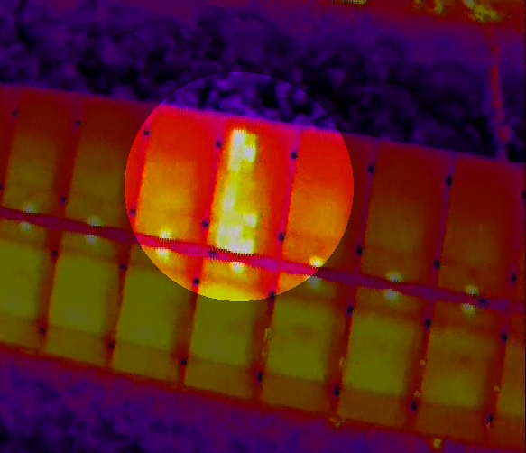 Hot-spot su Pannello Fotovoltaico