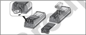 Inserimento batteria Leica Disto D2