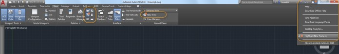 Highlight New Features nel menu Help
